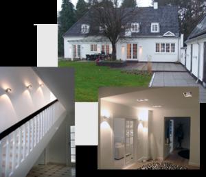 Inspiration til lys i privat villa i Nordsjælland